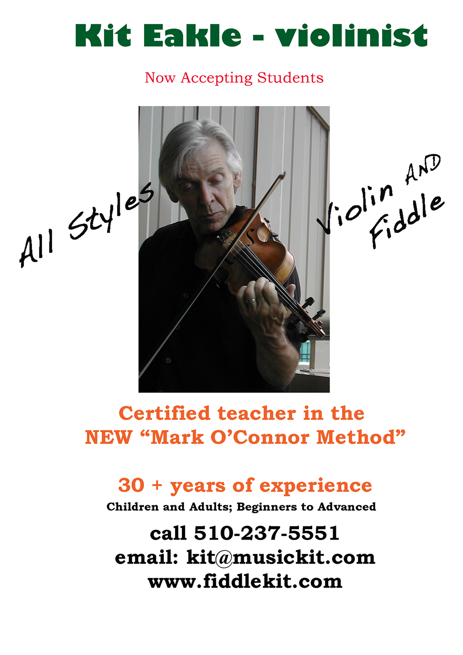 Kit Eakle violin teacher